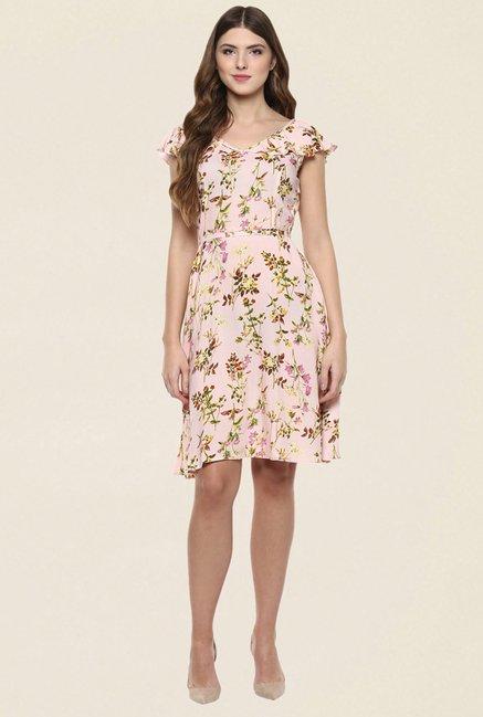 7fd17ffbfcc9 Buy 109 F Peach Floral Print Dress for Women Online   Tata CLiQ