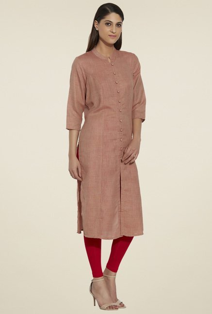 Globus Brick Red Regular Fit Kurta