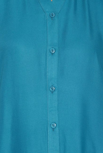 Globus Blue Regular Fit Kurta