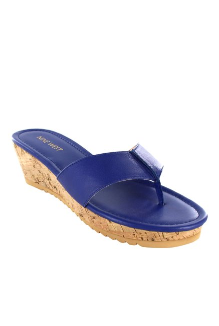 2517f7ac3e4e41 Buy Nine West Royal Blue Thong Sandals for Women at Best Price   Tata CLiQ
