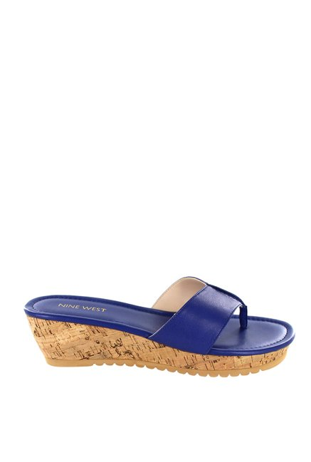 3c3e33a2236d48 Buy Nine West Royal Blue Thong Sandals for Women at Best Price ...