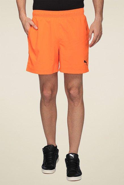 Puma Orange Regular Fit Shorts