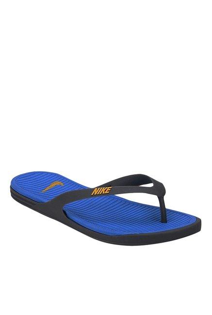 d2cd0f5ee398 Buy Nike Matira Black   Blue Flip Flops for Men at Best Price   Tata CLiQ