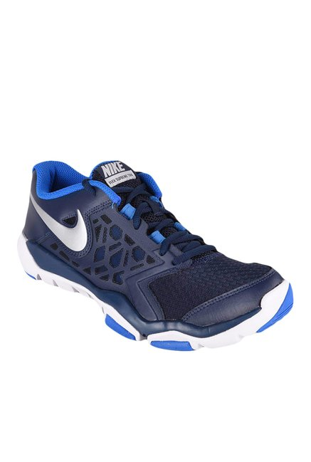 7ce3ff0c9927 Buy Nike Flex Supreme TR 4 Navy Blue Training Shoes for Men at Best Price   Tata  CLiQ