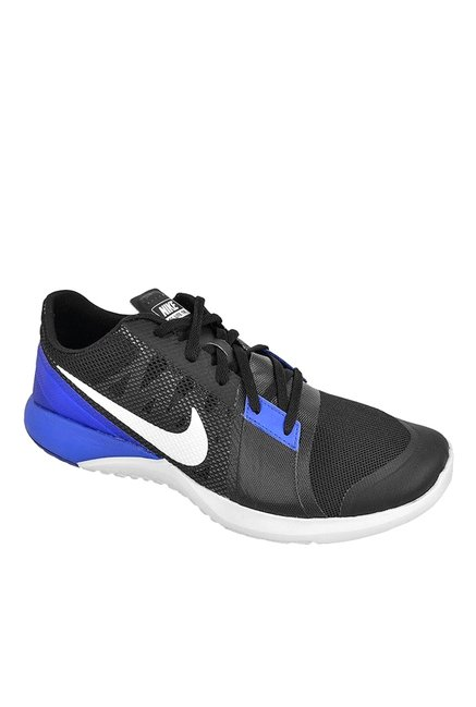 timeless design 95d0e 8ec7f Buy Nike FS Lite Trainer 3 Black  Blue Training Shoes for Men at Best  Price  Tata CLiQ