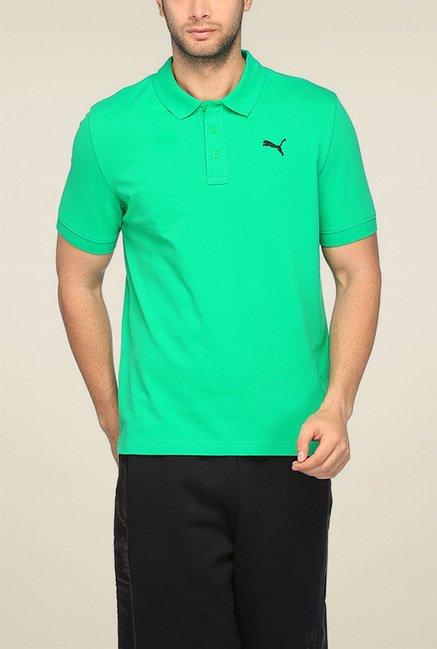 Puma Green Half Sleeves Polo TShirt