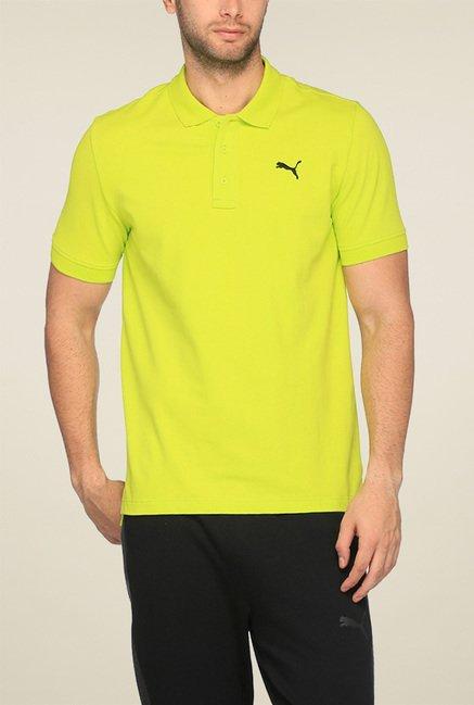 Puma Yellow Half Sleeves Polo TShirt