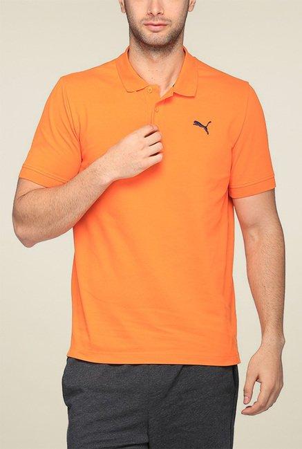 Puma Orange Regular Fit Polo TShirt