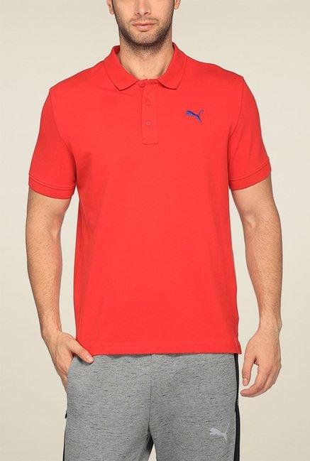 Puma Red Regular Fit Polo TShirt