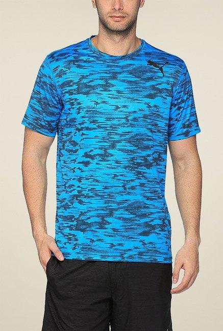 Puma Aqua Blue Regular Fit TShirt