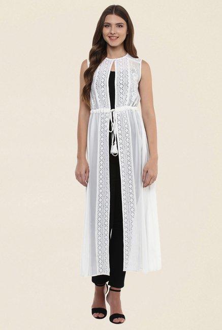 Buy 109 F White Lace Shrug For Women Online Tata Cliq
