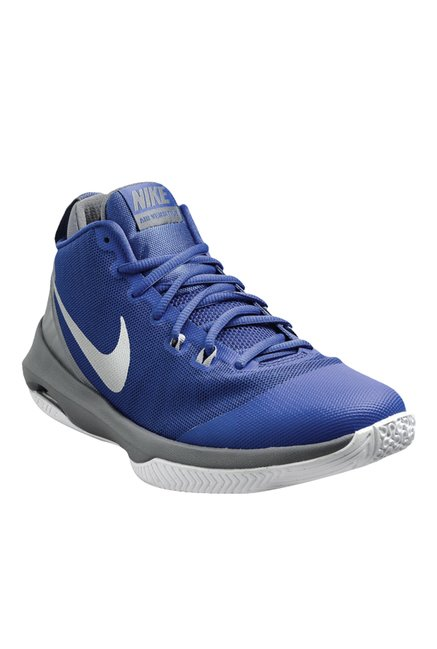 Buy Nike Air Versatile Blue   White Basketball Shoes for Men at Best ... 2a4a9f34941