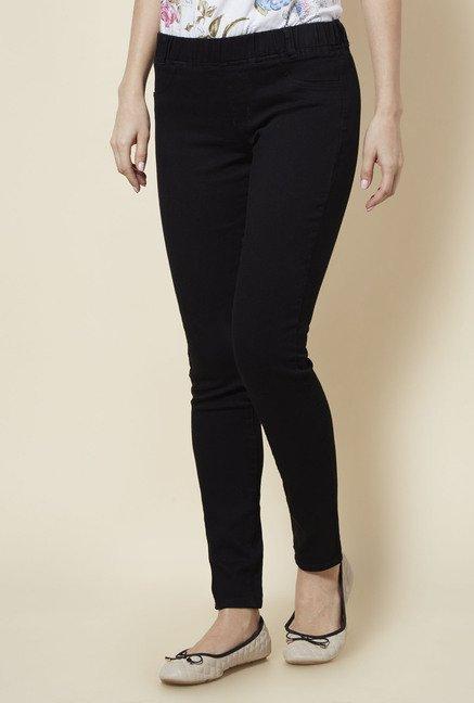 ae849a08d3fd5 Buy Zudio Black Slim Fit Jeggings for Women Online   Tata CLiQ