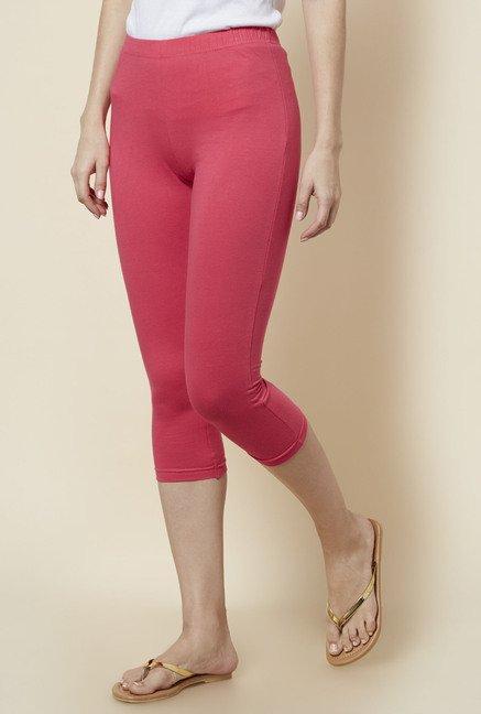 1cfe28a1a8 Buy Zudio Fuchsia Slim Fit Leggings for Women Online   Tata CLiQ