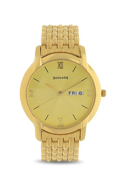 Sonata NF7954YM01J Analog Watch
