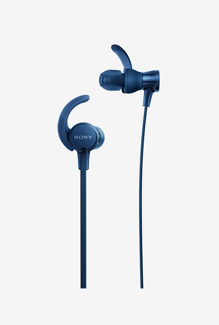 Sony Extra Bass MDR-XB510AS in-Ear Sports Headphones with Mic, Blue
