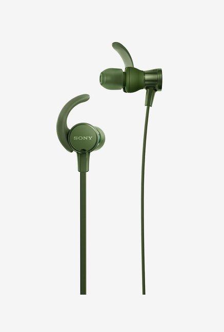 Sony Xb510As Extra Bass Sports In Ear Wired Earphones  Green