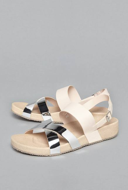 2759be638d32 Buy Head Over Heels by Westside Beige Criss Cross Sandals For Women Online  At Tata CLiQ