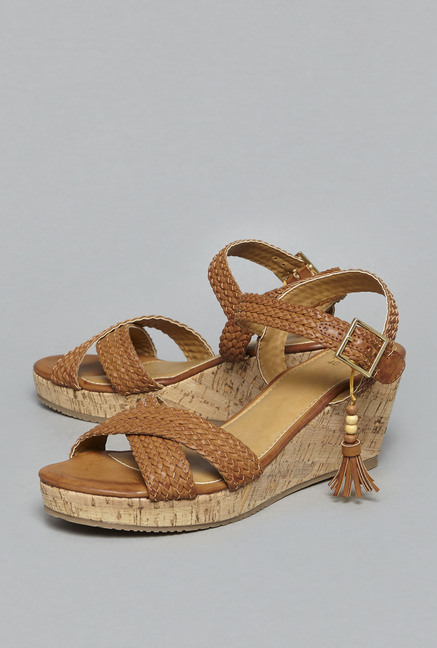 9f68d73f516c Head Over Heels By Westside Tan Braided Sandals For Women Online