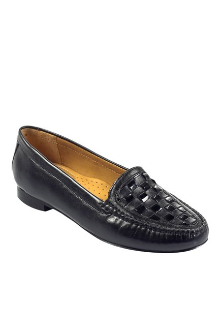 b7e649b7ab3 Buy Pavers England Black Casual Loafers for Women at Best Price   Tata CLiQ