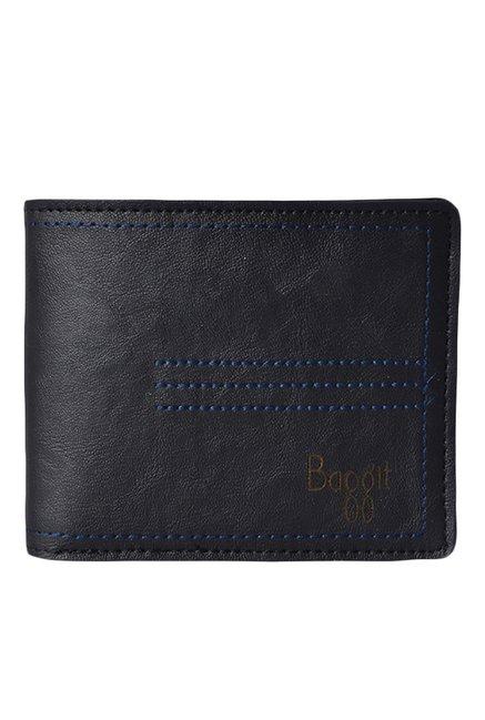 ad87e1ae174b6 Baggit Gwxe Spike Bindas Black Textured Wallet For Men At Best