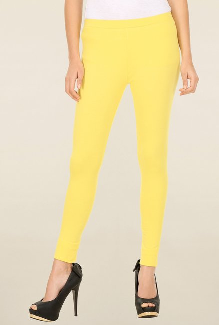 W Yellow Solid Tights