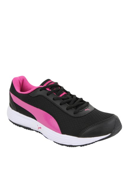 Buy Puma Reef DP Black   Pink Running Shoes for Women at Best ... 081aac913