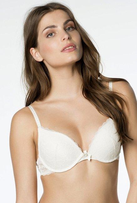 dc0e9d4164f37 Buy Hunkemoller Off White Padded Bra for Women Online   Tata CLiQ