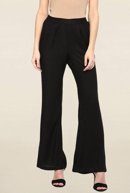 Miway Black Solid Pant