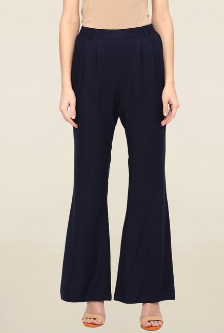Miway Navy Solid Pant