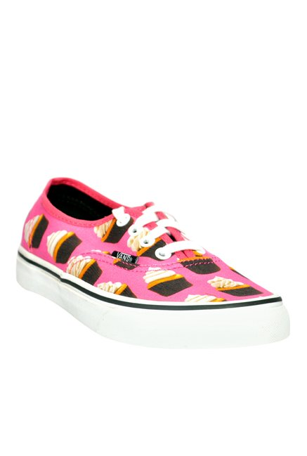 678f7a0e859f Buy Vans Authentic Hot Pink   Dark Brown Sneakers for Women at Best Price    Tata CLiQ