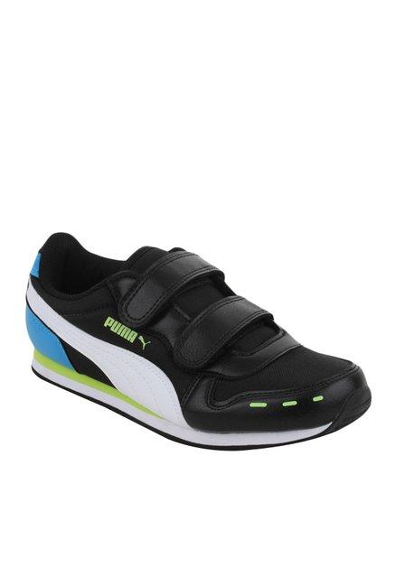 b4fa628e12b Buy Puma Cabana Racer V PS IDP Black   Blue Sneakers for Boys at Best Price    Tata CLiQ