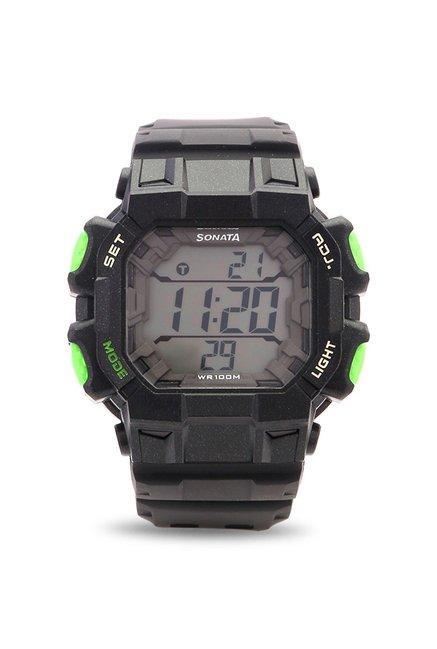 Sonata NH77025PP01J Ocean Series Digital Watch for Men