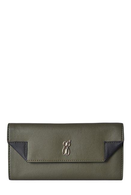 Baggit LWXE3 Grammy Kasey Olive Green Tri-Fold Wallet