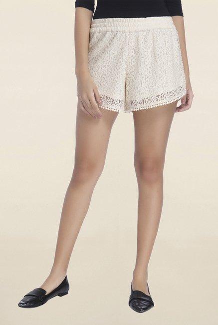Vero Moda Off White Lace Shorts
