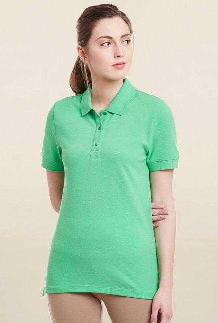 Cherymoya Green Solid T Shirt
