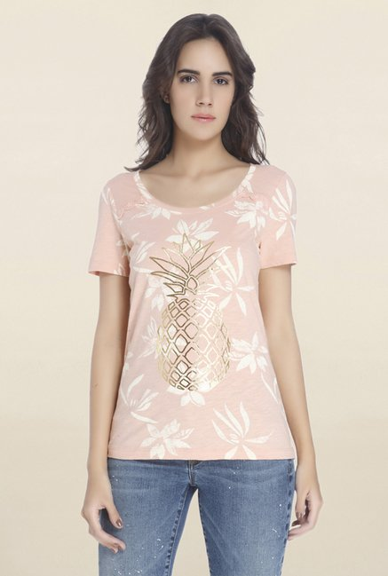 Vero Moda Dusky Pink Printed Top