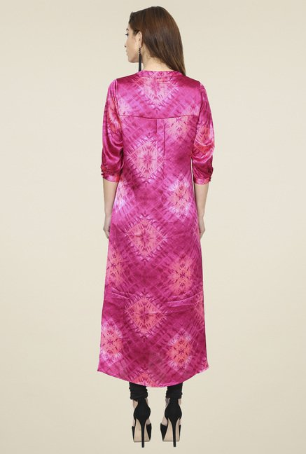Aujjessa Fuchsia Regular Fit Kurta