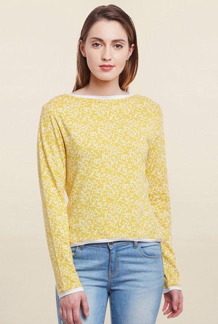 Cherymoya Yellow Printed Top