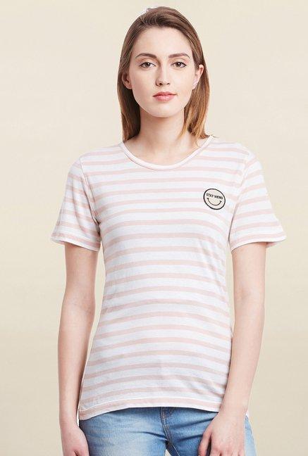 Cherymoya Pink & White Striped T Shirt