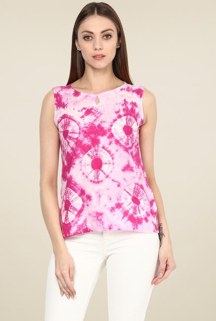 Jaipur Kurti Dark Pink Cotton Top