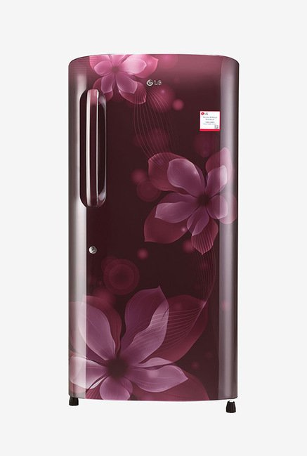 LG GL-B221ASOX 215 L 4 Star Direct Cool Single Door Refrigerator, Scarlet Orchid