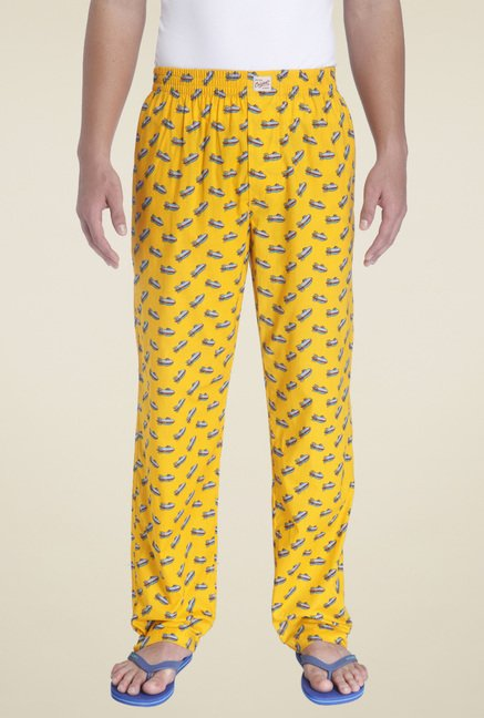 Jack & Jones Mustard Printed Regular Fit Pyjamas