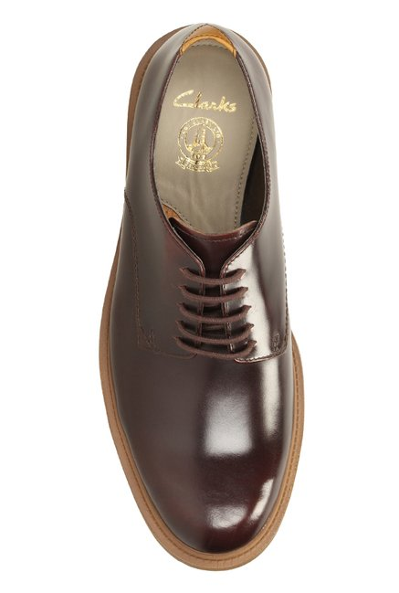4c858de42099 Buy Clarks Feren Chestnut Derby Shoes for Men at Best Price   Tata CLiQ