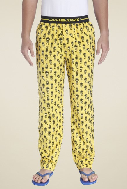 Jack & Jones Yellow Printed Regular Fit Pyjamas