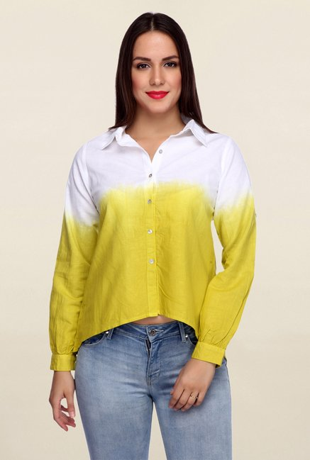 Mineral Yellow & White Linen Shirt
