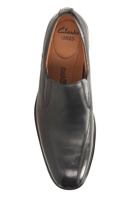 0fcec9aa Buy Clarks Gosworth Step Black Slip-Ons for Men at Best Price @ Tata ...