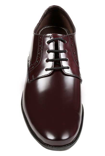 Buy Clarks Chart Walk Cherry Brown Derby Shoes for Men at