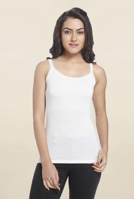 Only White Solid Tank Top