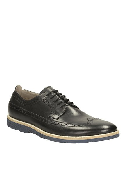 Buy Clarks Gambeson Limit Black Brogue Shoes for Men at Best